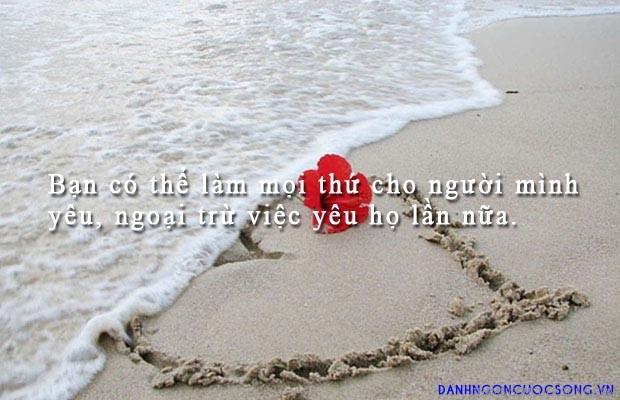 danh ngon tinh yeu 841 - Bạn có thể làm mọi thứ cho người mình yêu, ngoại trừ việc yêu họ lần nữa.