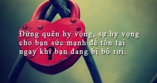 danh ngon tinh yeu 871 310x165 - Đừng quên hy vọng, sự hy vọng cho bạn sức mạnh để tồn tại ngay khi bạn đang bị bỏ rơi.