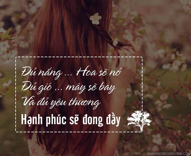 711 - Đủ nắng hoa sẽ nở, đủ gió mây sẽ bay và đủ yêu thương hạnh phúc sẽ đong đầy