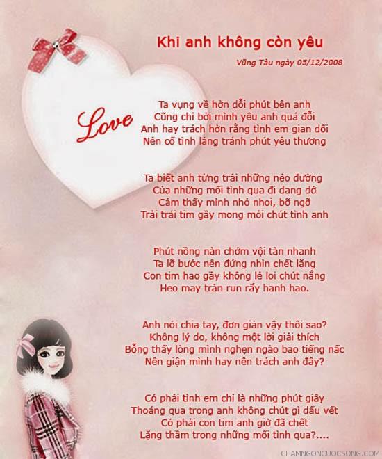 nhung bai tho tinh hay nhat 1 - Những bài thơ tình hay nhất