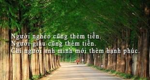 nhung cau noi hay ve tien va tinh yeu 1 310x165 - Những câu nói hay về tiền và tình yêu