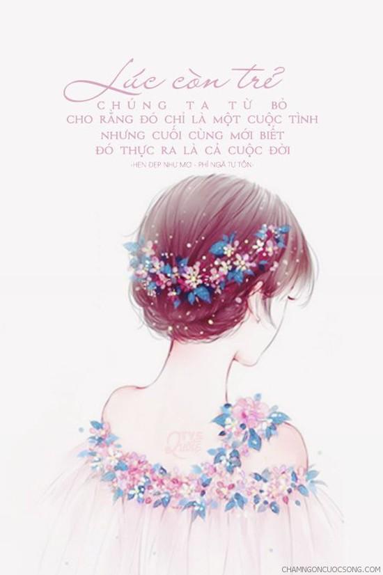 cham ngon tinh yeu 937 -  Lúc còn trẻ chúng ta từ bỏ cho rằng đó chỉ là một cuộc tình nhưng cuối cùng mới biết đó thực ra là cả cuộc đời.